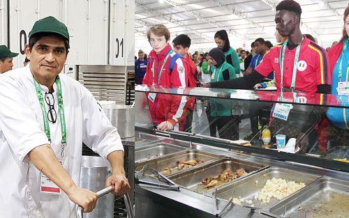 Villa Olímpica: 40 cocineros alimentan a 7 mil personas