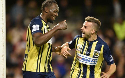 Usain Bolt convirtió sus primeros goles en el fútbol australiano