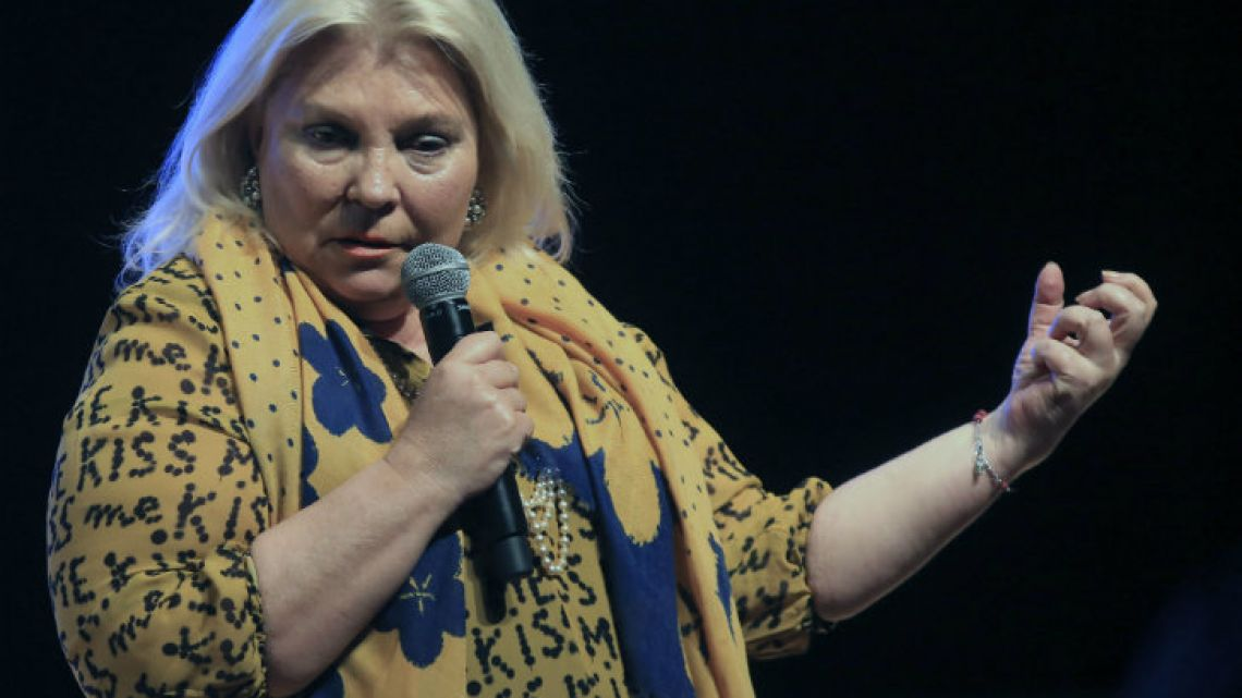 National deputy Elisa 'Lilita' Carrió.