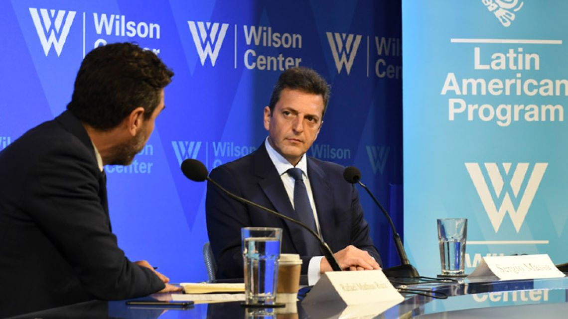 Sergio Massa, pictured during an event hosted by the Argentina Project at the Woodrow Wilson Center in Washington DC.