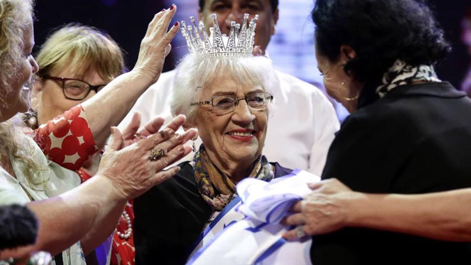 """Tova Ringer, y es la ganadora del controvertido concurso de belleza """"Miss Sobreviviente del Holocausto""""."""