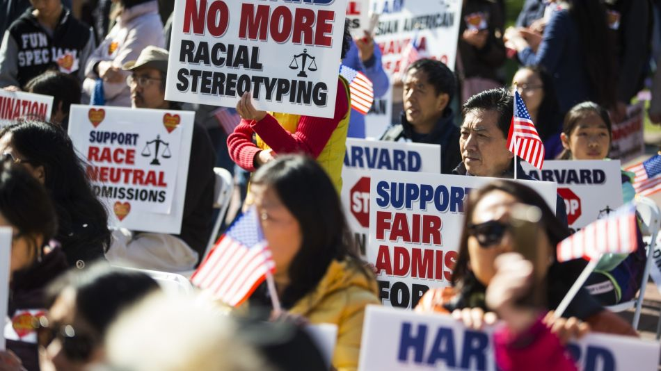Demonstrators Respond To Lawsuit Against Harvard's Admissions Practices
