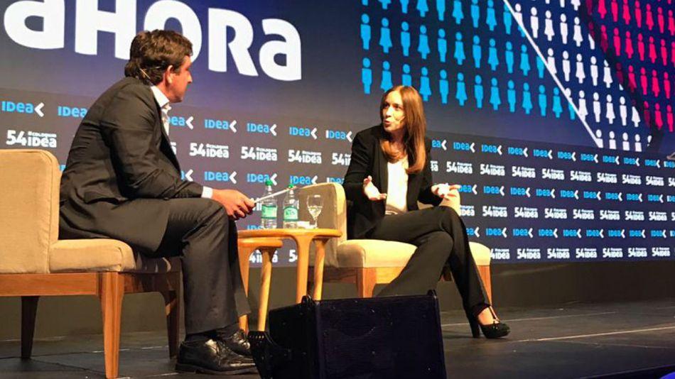 Vidal en IDEA, junto a Federico Procaccini.