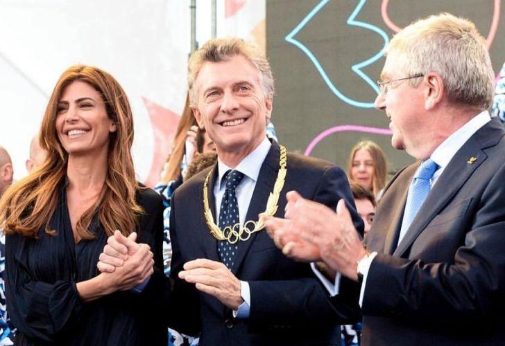 Macri y Juliana Awada en los Juegos Olímpicos de la Juventud 10182018