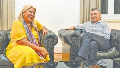 Tension. Elisa Carrió desequilibra su relación con Macri con su protagonismo exuberante.
