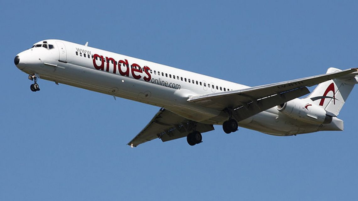 An Andes MD80.
