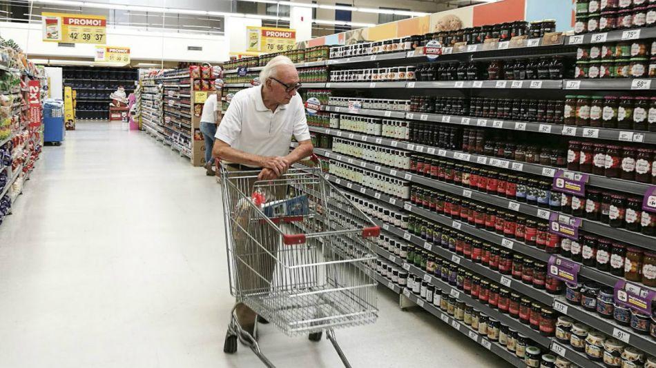 consumo supermercado gondolas