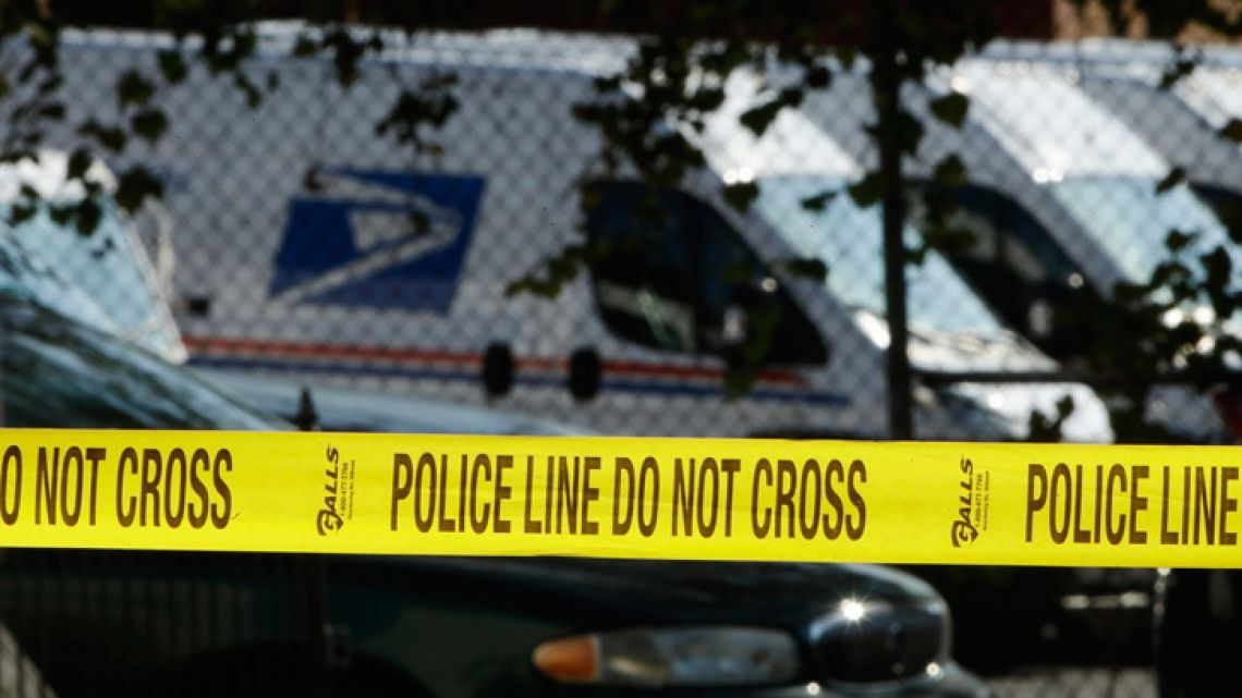 Police tape cordons off a post office in Wilmington. A law enforcement official said suspicious packages addressed to former US vice-president Joe Biden were intercepted at Delaware mail facilities in New Castle and Wilmington and were similar to crude pipe bombs sent to  Barack Obama, Hillary Clinton and CNN.