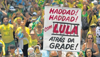 Obsesion. La animadversión contra el PT y Lula, eje de la campaña.