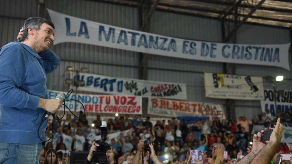El diputado Máximo Kirchner participó de un acto homenaje a su padre, el fallecido expresidente Néstor Kirchner, y arremetió contra la gestión de Cambiemos.