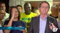 Jair Bolsonaro, en la puerta de su casa, en su segundo discurso como presidente electo de Brasil.