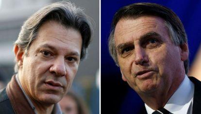 Fernando Haddad y Jair Bolsonaro se disputan una elección histórica.