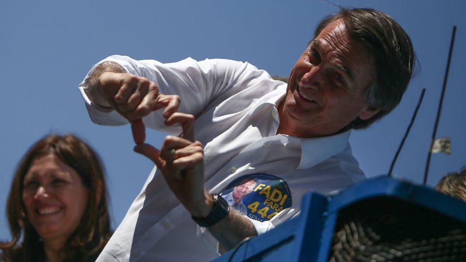 Jair Bolsonaro, en campaña