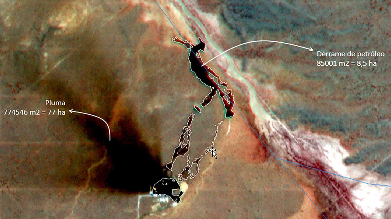 Difunden imágenes de un derrame de petróleo en Vaca Muerta