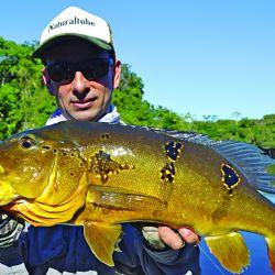 Donde el mapa político del Amazonas se parte en tres provincias, pescamos bicudas, cachorras, tucunarés y aruanás con artificiales. El spinning, muy destacado.