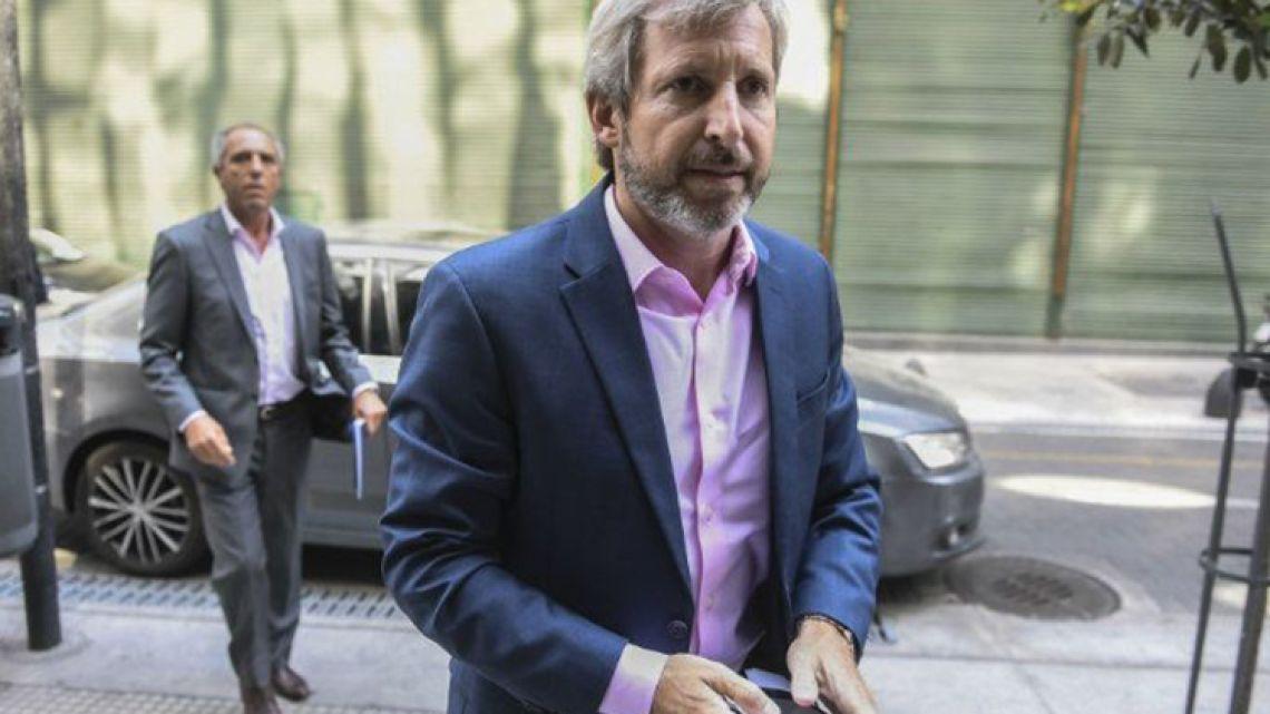 Interior Minister Rogelio Frigerio.