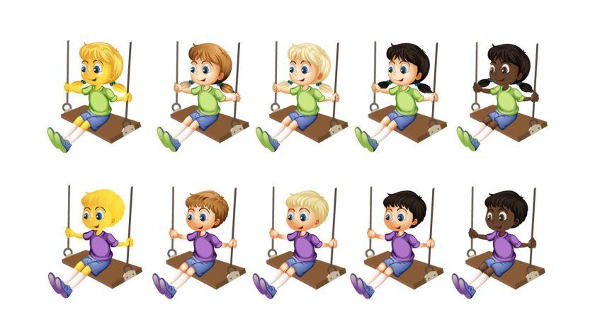 Lanzan Una Campana Para Sumar Emojis De Ninas Y Ninos Jugando Perfil