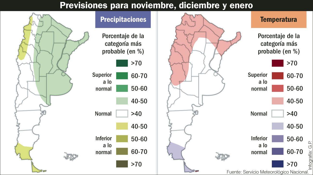 Pasados por agua. Los meses de calor serán lluvioso en la costa atlántica, Córdoba e Iguazú.