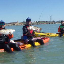 En Santa Clara del Mar, excelente variada donde se destacaron corvinas rubias que superaron los cinco kilos. Equipos.