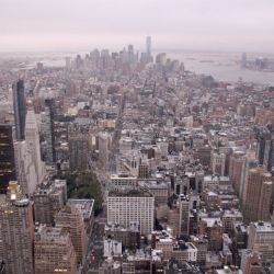 Las vistas desde el Empire State Building en Nueva York.