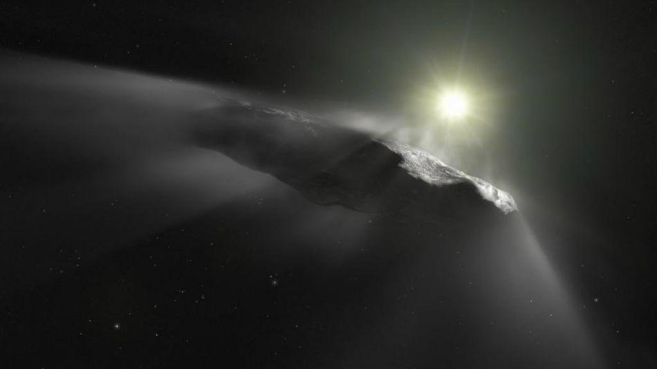 El asteroide Oumuamua.