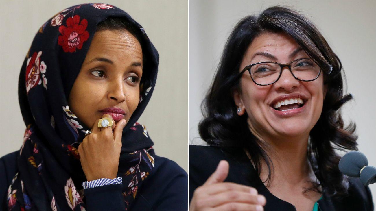 Rashida Tlaib, de 42 años y del estado de Michigan, e Ilhan Omar, de 36 y de Minnesota, fueron elegidas hoy por el Partido Demócrata en las elecciones legislativas de medio mandato.