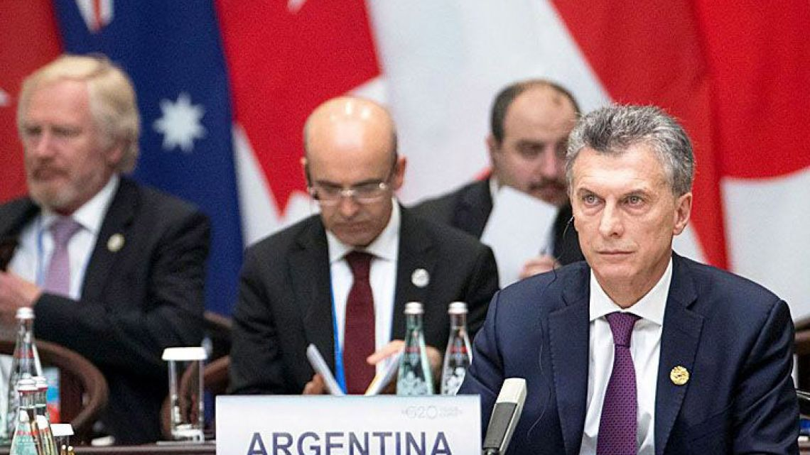 President Mauricio Macri at the G20 summit in 2017.