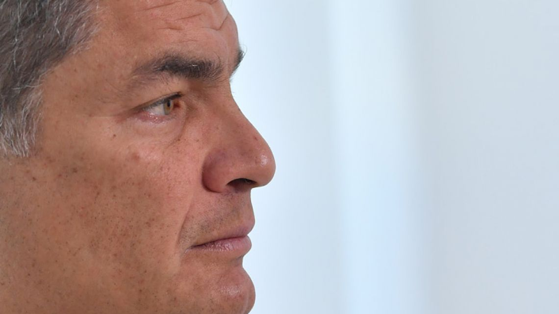 Former president of Ecuador (2007-2017), Rafael Correa, pictured in an interview in November.