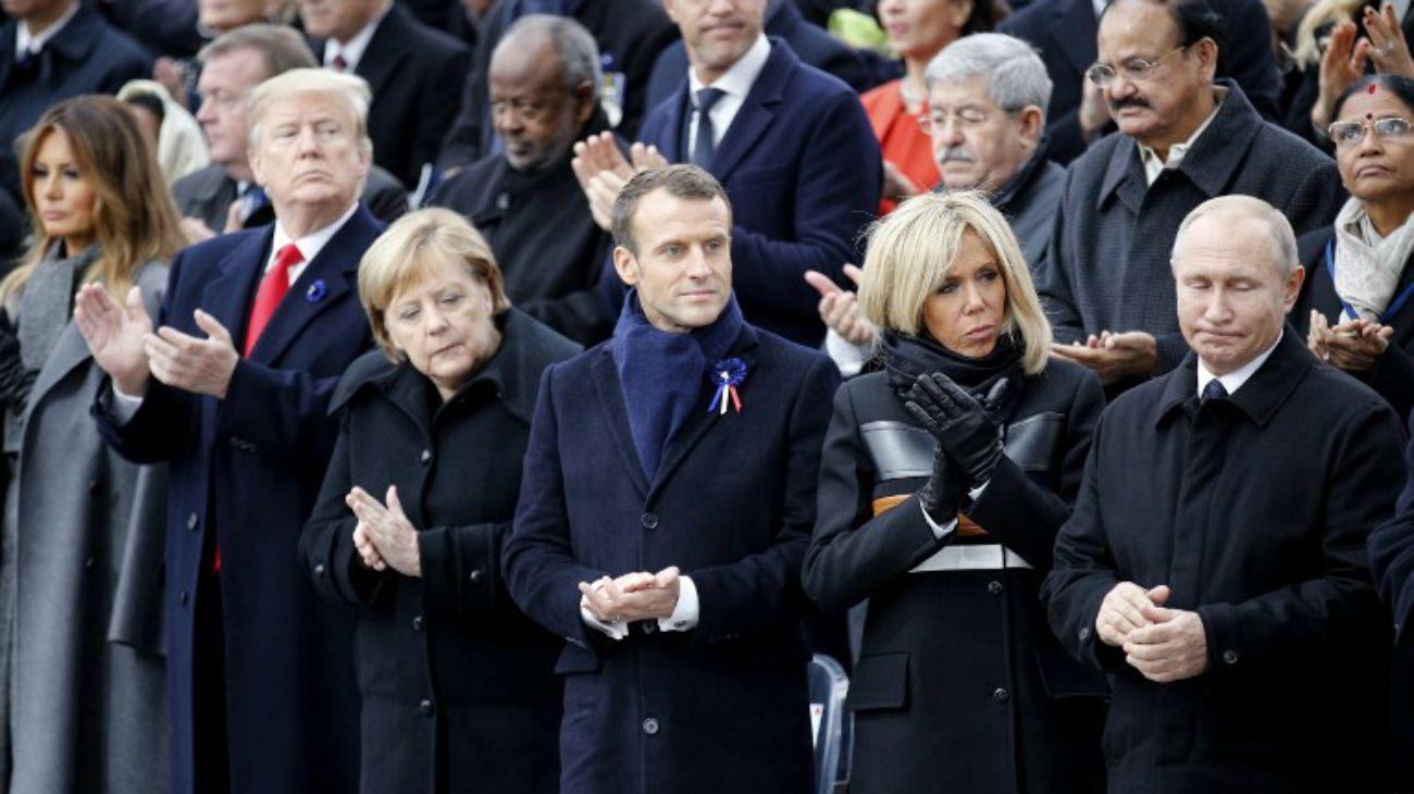 En París y Londres, líderes europeos conmemoraron el centenario del fin de la Gran Guerra