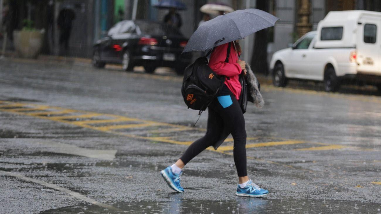 Sigue la lluvia en la Ciudad de Buenos Aires.
