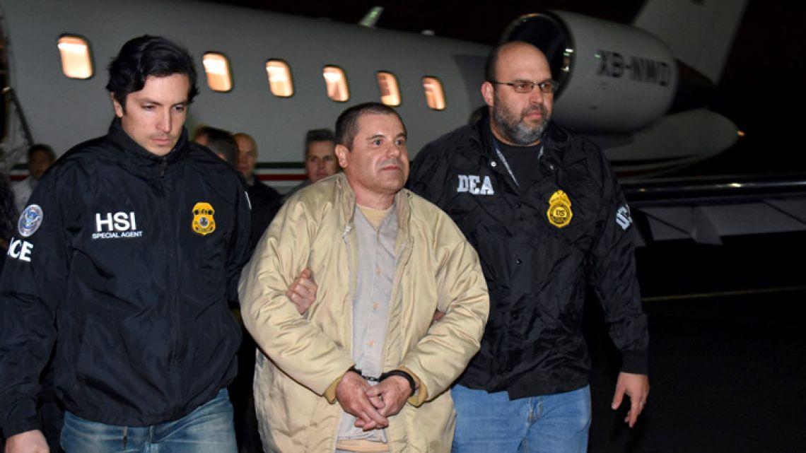 US Authorities escorting Joaquin