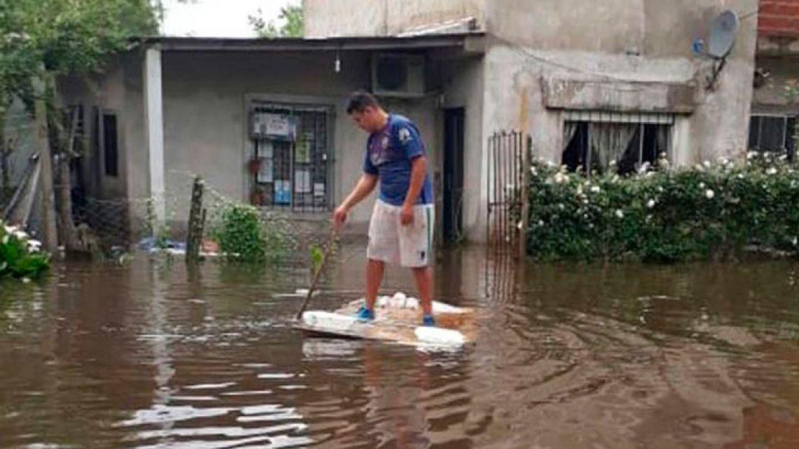 Flooding in La Matanza.