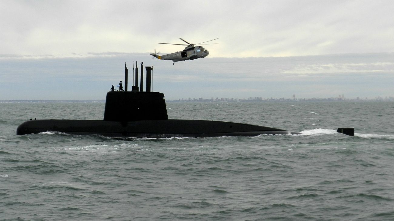 """El submarino de la Armada Argentina """"ARA San Juan"""" desapareció el 15 de noviembre de 2017 en el Océano Atlántico."""