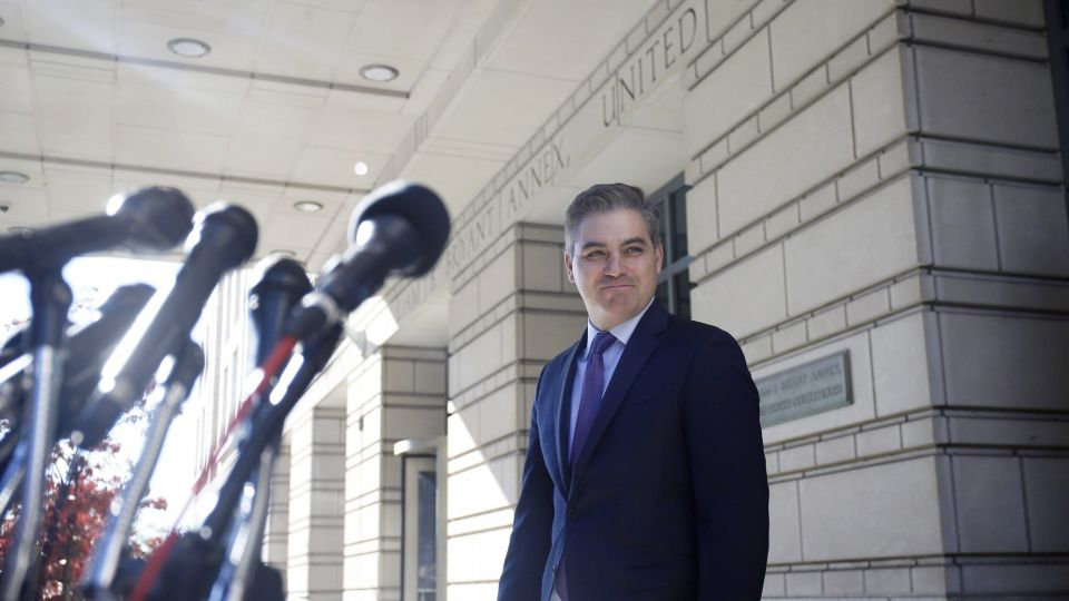 CNN Anchor Jim Acosta Appears at U.S. District Court for Lawsuit Against Trump Administration