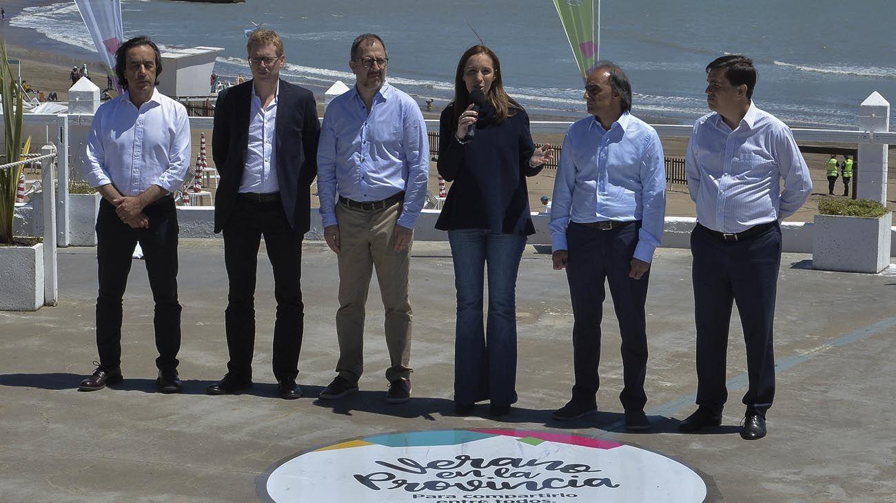 Verano. Vidal anunció ayer promociones desde Mar del Plata.