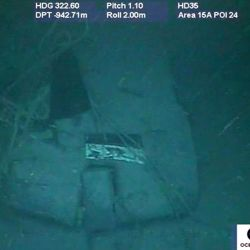 Handout picture released by Argentina's Navy on November 17, 2018, showing part of the wreckage of the ARA San Juan submarine.