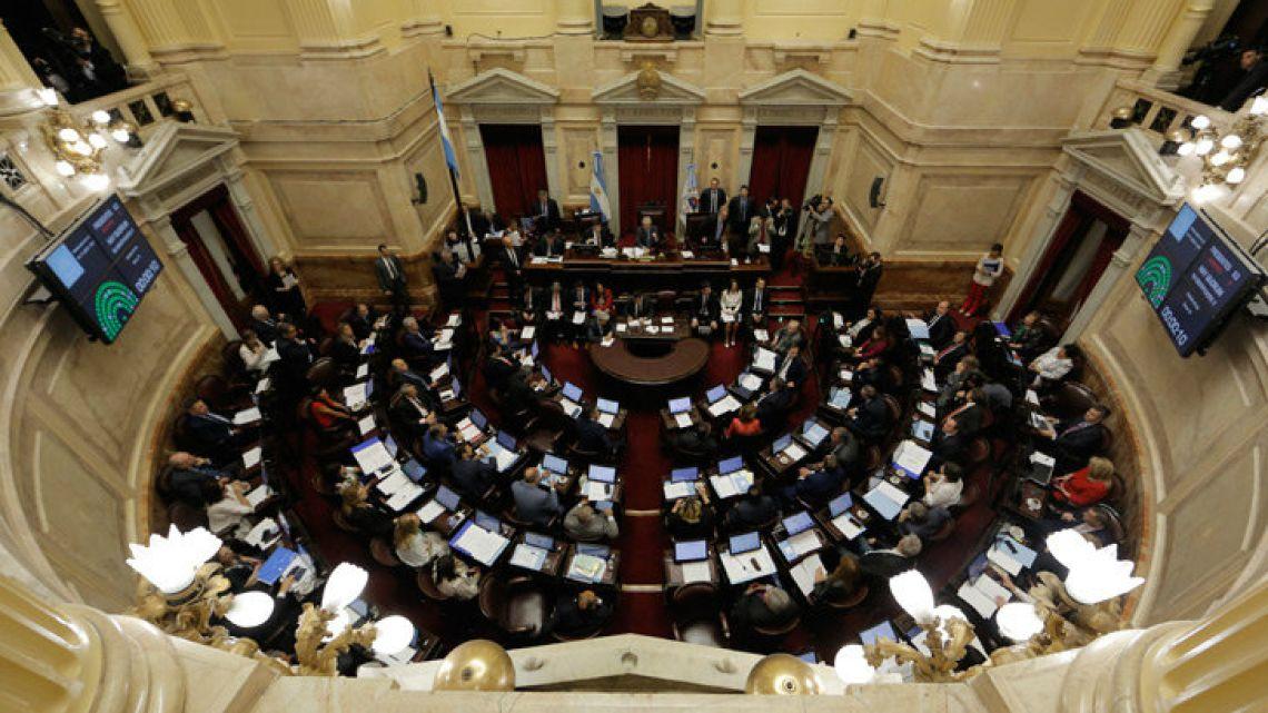 Senators vote on the Budget proposal.