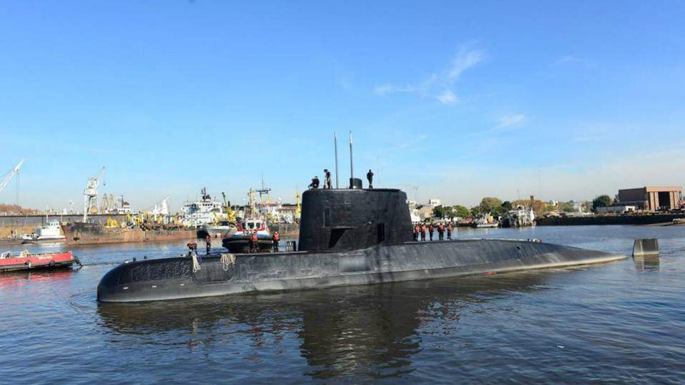 """Elsubmarinode la Armada de la República Argentina (ARA) """"San Juan"""" fue hallado a 460 kilómetros al este del Golfo San Jorge, frente a las costas patagónicas y a 800 mts. de profundidad."""