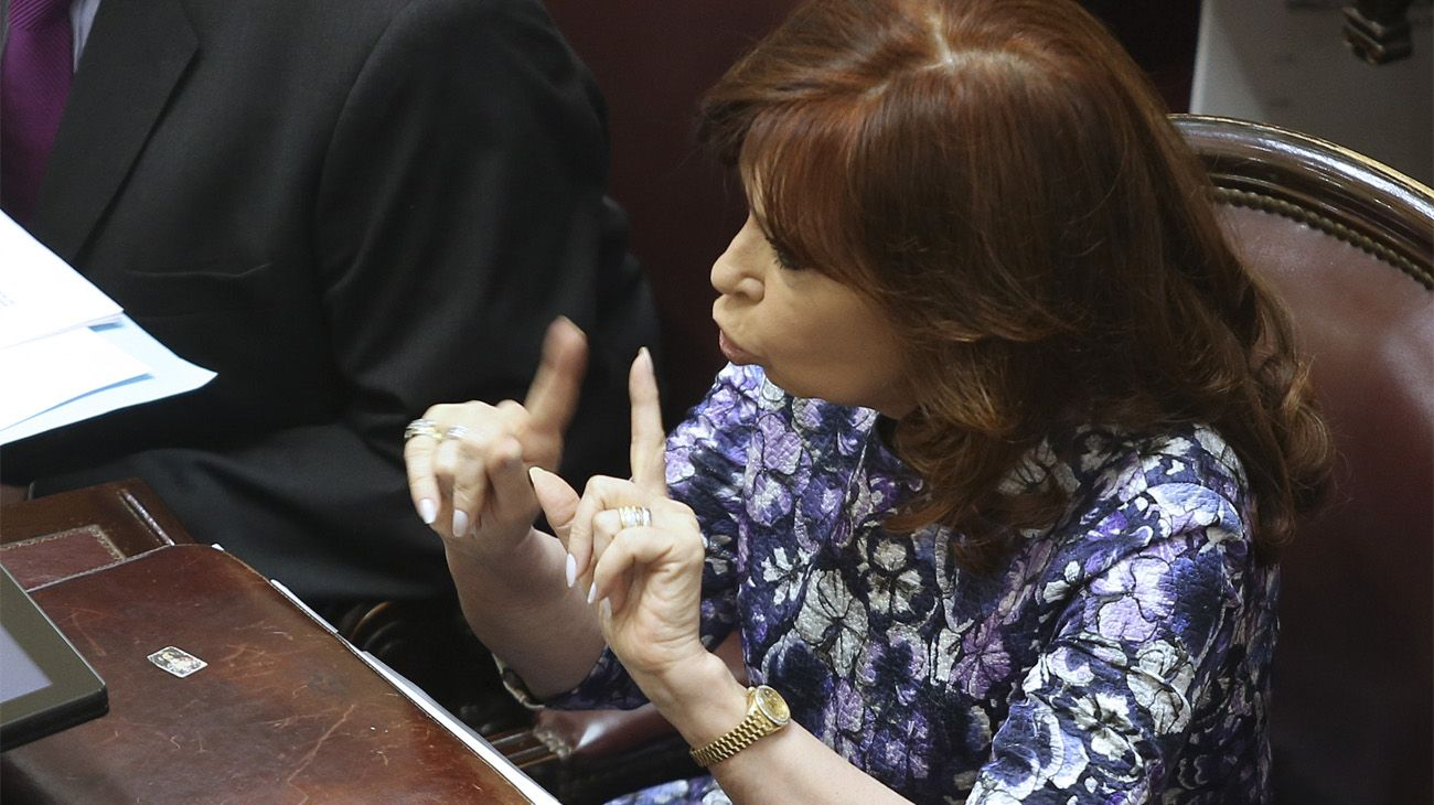 Cristina Fernández de Kirchner en el Senado.