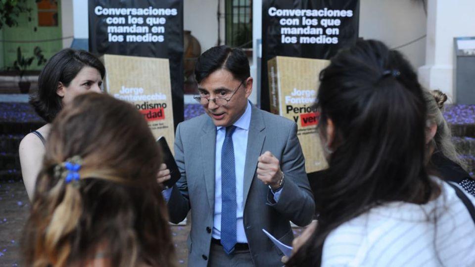 """Jorge Fontevecchia dialoga durante la presentación de su libro """"Periodismo y Verdad"""""""