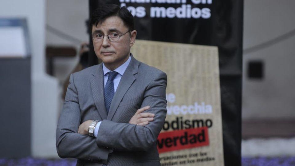 Jorge Fontevecchia, durante la presentación de su último libro Periodismo y verdad.