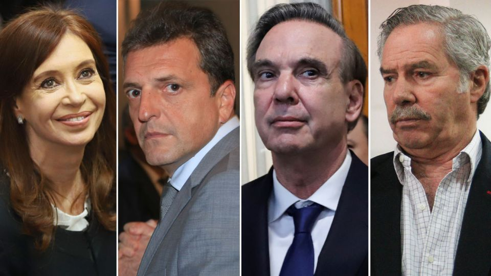 Cristina Kirchner, Sergio Massa, Miguel Ángel Pichetto, Felipe Solá