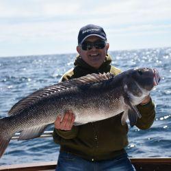 En Mar del Plata, embarcado con jigging y carnadas, obtuvimos espectaculares piezas de 20 kilos. Además, chernias y meros.
