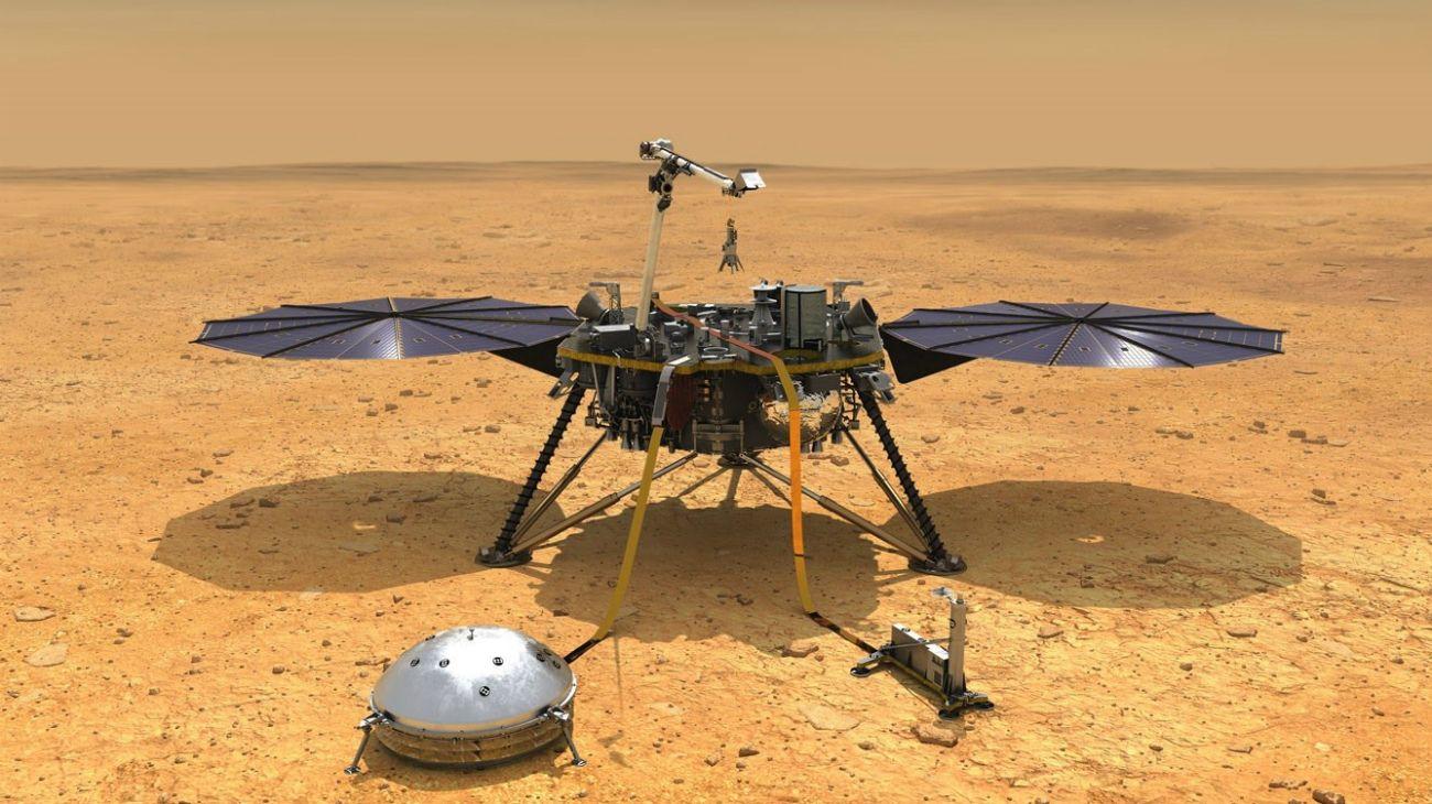 InSight. Sus observaciones arrojarán luz sobre si la Tierra y Marte están hechos de la misma materia.