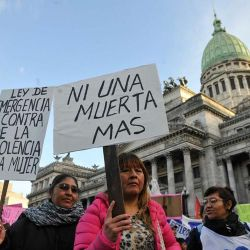 Women protesting against rising number of femicide.