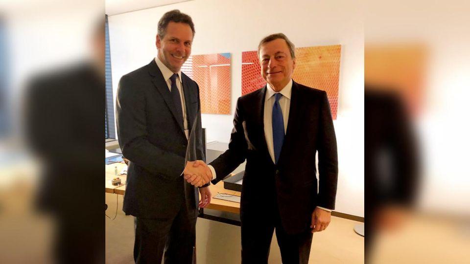 VIAJE. Sandleris con Draghi, la última semana en Europa.