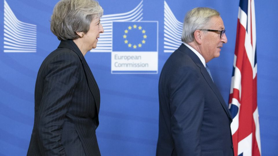 U.K. Prime Minister May And European Commission President Juncker Discuss Post Brexit Plan Before EU Summit