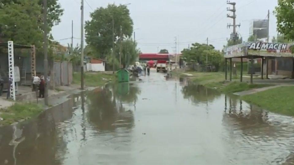 Inundaciones en Quilmes por la sudestada.