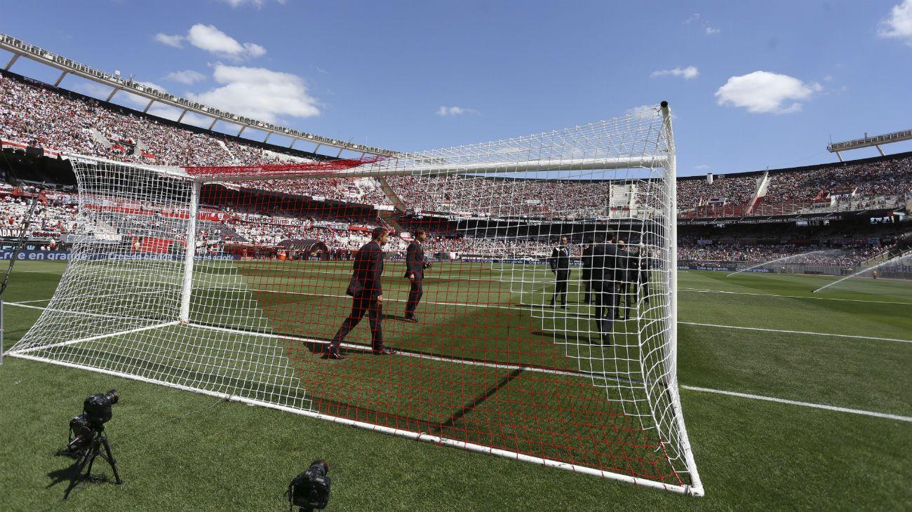 El estadio de River espera por la final de la Copa Libertadores.