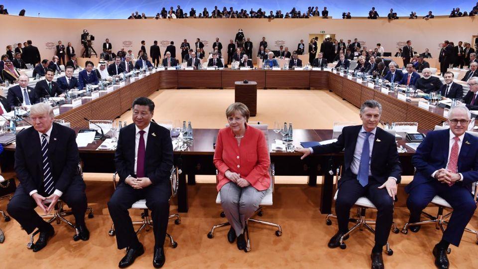 los protagonistas del Encuentro. Mauricio Macri, Angela Merkel, Xi Jinping y Donald Trump, entre otros, buscarán alcanzar acuerdos en algunos de los temas más conflictivos de la escena global.